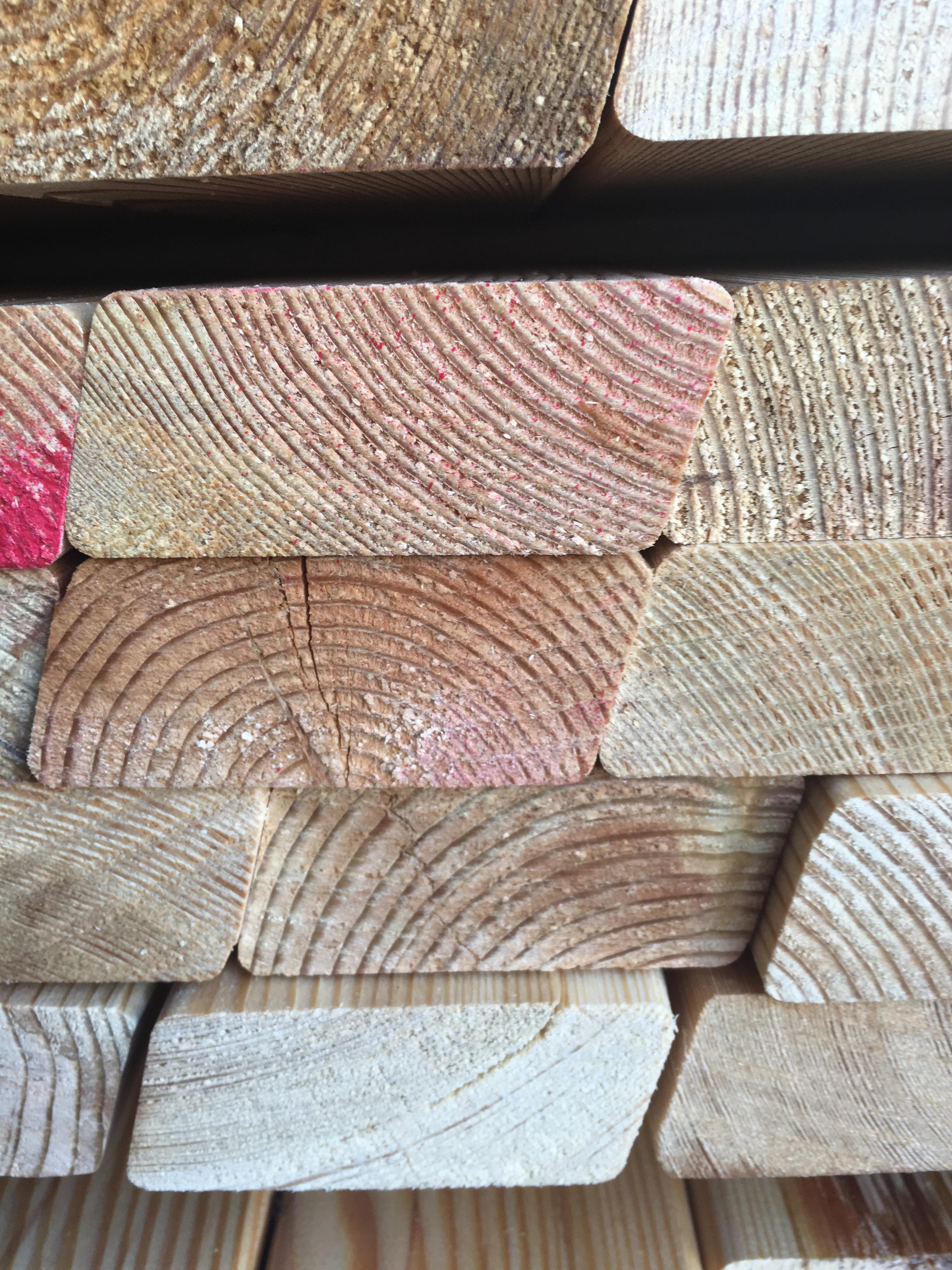 Rhombusleisten 27 x 68 mm Fassadenverkleidung Holzhandel24