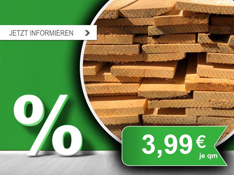 Dachschalung technisch getrocknet auf 18% Holzfeuchte